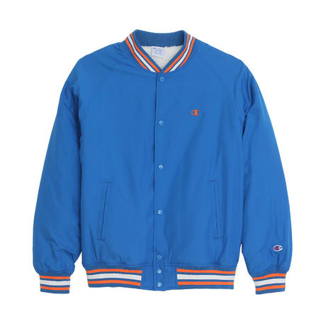 "【ラス1】 Champion ""small logo"" SNAP JACKET (Blue)"
