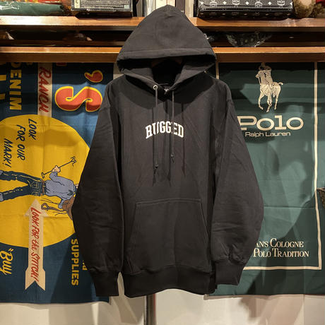 "【ラス1】RUGGED ""SMALL ARCH"" reverse weave sweat hoodie  (Black/12.0oz)"