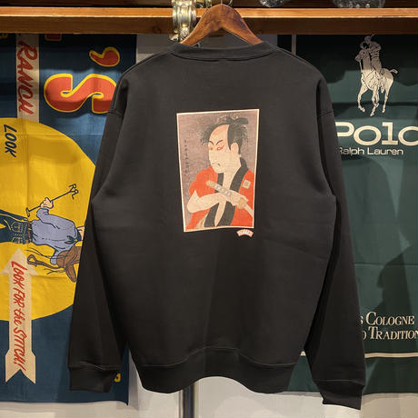 "【ラス1】RUGGED ""男女蔵"" sweat (Black/10.0oz)"
