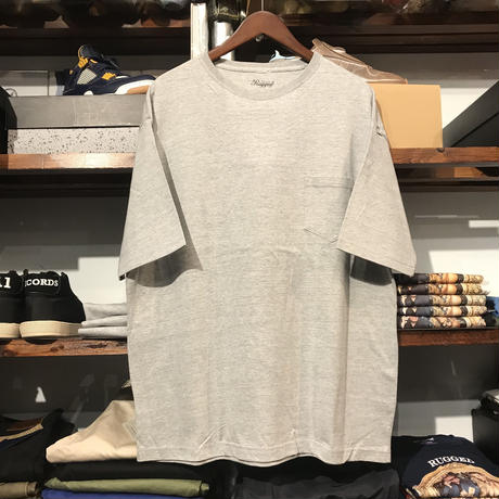 【残り僅か】RUGGED big size pocket tee (Gray/5.6oz)