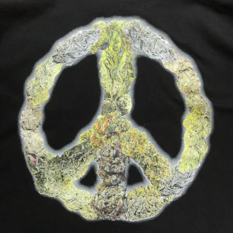 "【残り僅か】RUGGED ""PEACE BUDS"" tee (Black)"