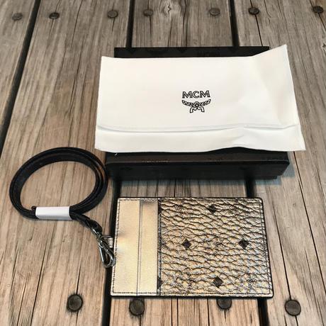 【ラス1】MCM strap card case (Silver)