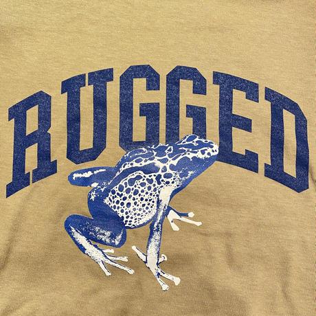 "RUGGED ""蛙"" tee (Sand Khaki)"