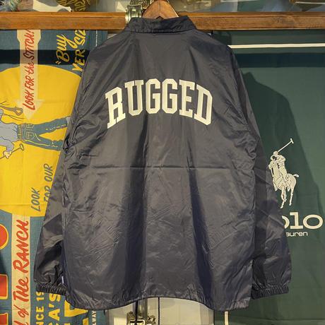 "RUGGED ""ARCH LOGO "" coach jacket (Navy)"