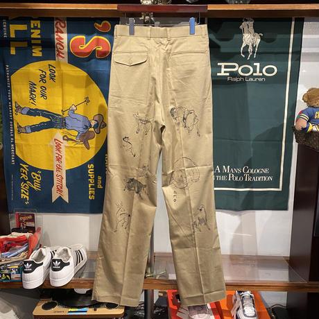 "【Web限定】RUGGED on vintage ""JAPAN ANIMAL"" chino pants ⑤"