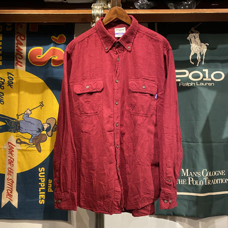 RUGGED on Vintage pocket B.D shirt (L)