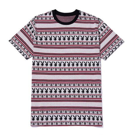 【WEB限定/残り僅か】HUF × PLAYBOY STRIPE S/S KNIT TOP