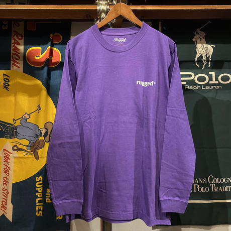 "【ラス1】RUGGED ""L.S.Dean"" L/S tee (Purple)"