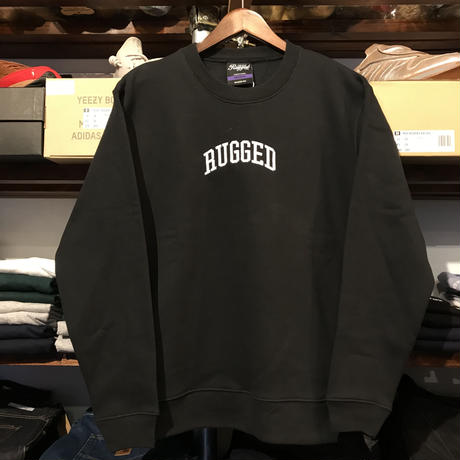 "【残り僅か】RUGGED ""ARCH LOGO"" sweat (Black × White/10.0oz)"