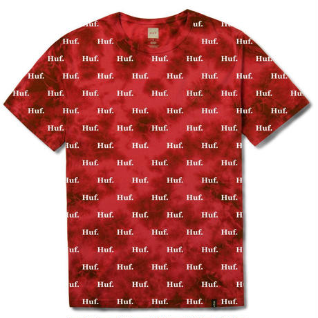 【残り僅か】HUF DOMESTIC CRYSTAL WASH TEE (SCARLET)
