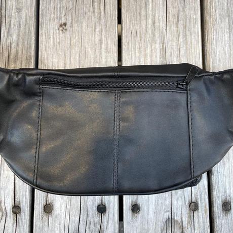 RUGGED  fake leather waist bag (Black)