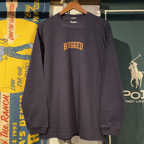 """RUGGED """"SMALL ARCH """" L/S tee (Navy)"""