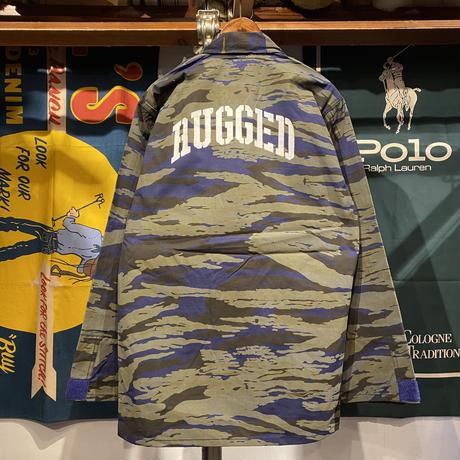 """【残り僅か】RUGGED """"STENCIL ARCH"""" tiger camo jacket (Blue)"""