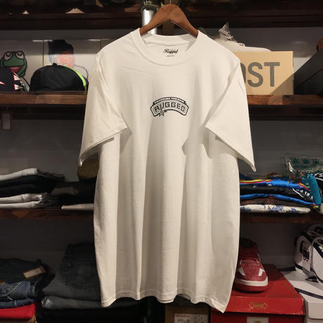 "【残り僅か】RUGGED ""POUNDING THE ROCK"" tee  (White)"