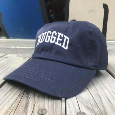 【ラス1】RUGGED ''ARCH LOGO'' adjuster cap (Navy×White)