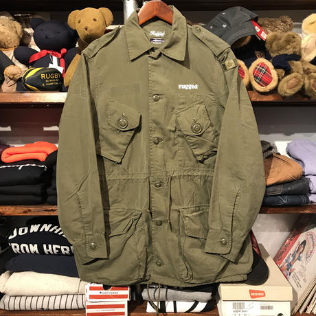 "RUGGED on vintage ""ARMY ARCH"" light military jacket (M)"