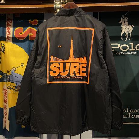 """【ラス1】RUGGED """"SURE"""" coach jacket (Black)"""