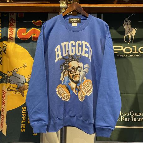 """【残り僅か】RUGGED × EDOFUKU """"CHAMBERS"""" sweat (Blue)"""