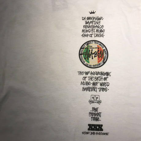 "【exclusive】STUSSY x MURO ""Da Originator~Sampling Renaissance"" tee (White)"