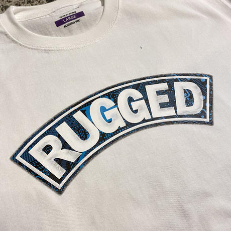 "RUGGED ""CIRCUIT ARCH"" heavy weight tee (White)"