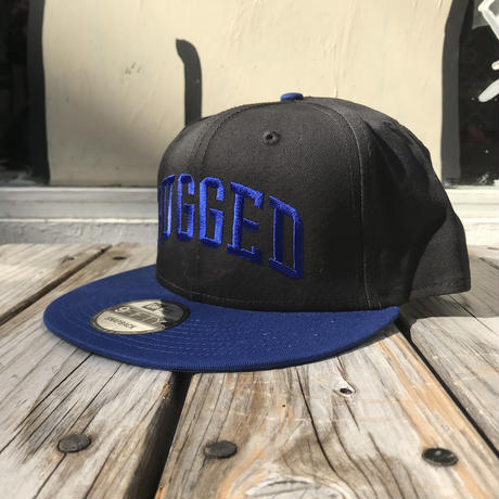 "RUGGED on Newera ""ARCH LOGO"" snapback (Black/Blue)"