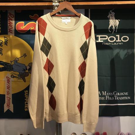 RGM argyle knit sweater (XL)