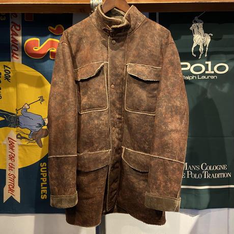 OLD ZARA front zip-up boa coat (M)