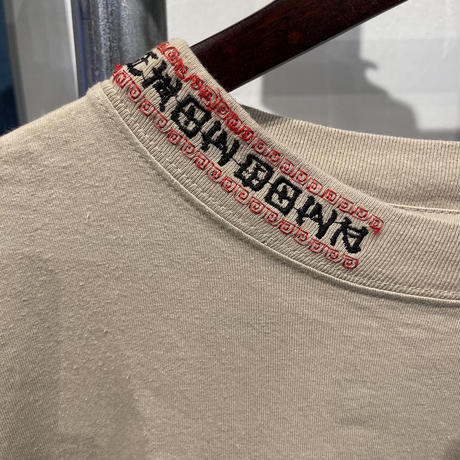 EHOW DOWN collar embroidery tee (S)