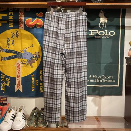 TOMMY HILFIGER check fleece pants (L)