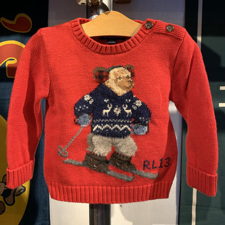 Polo Ralph Lauren kids bear sweater