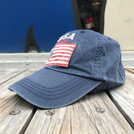 POLO RALPH LAUREN flag adjuster kids cap (navy)