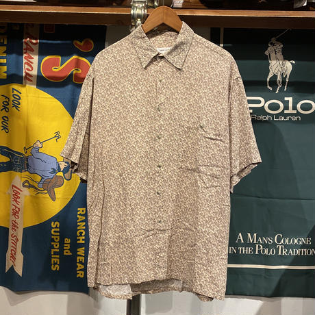 pierre cardin abstract pattern S/S shirt (L)