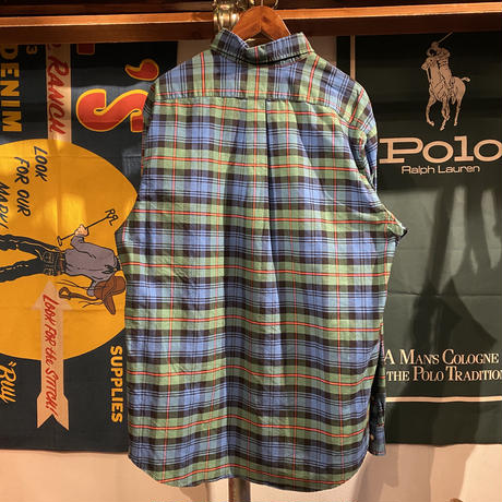 POLO RALPH LAUREN small pony  check pattern shirt (XL)