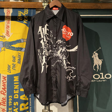"ALOLRAC ""無境界"" big print shirts"