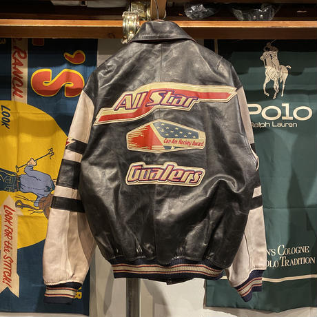 AVIREX leather stadium jacket (S)