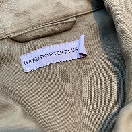 HEAD PORTER PLUS  logo work jacket (L)
