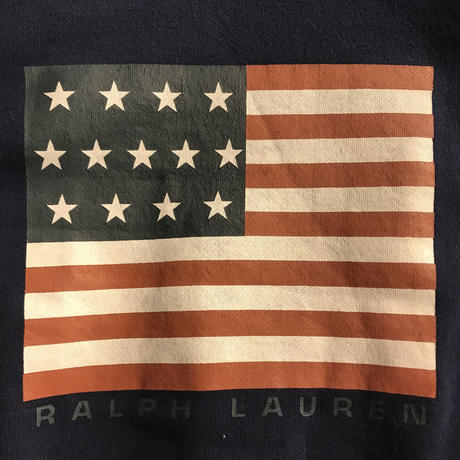 "POLO RALPH LAUREN ""FLAG"" hooded cotton gawn(L)"