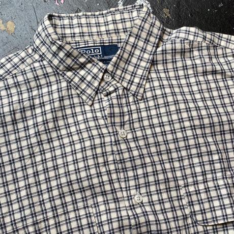POLO RALPH LAUREN pocket check shirt (M)