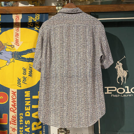 EX-CLUB crazy pattern open collar shirts (L)