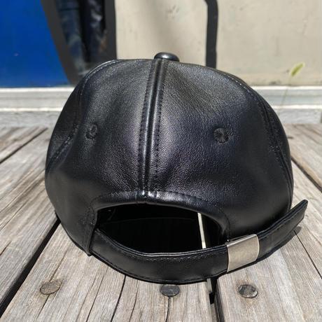 PLAYBOY rabbit mark leather adjust cap