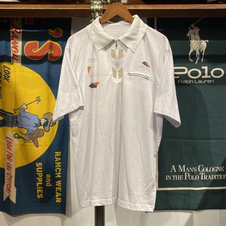 【web限定】vintage zipper pocket polo shirt