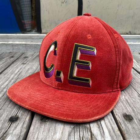 C.E 3D logo velour cap