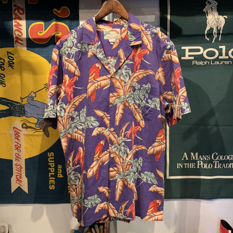 PARADICE FOUND bird aloha shirt (L)