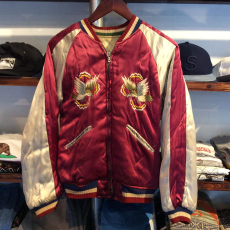 【50-60's】reversible souvenir jacket