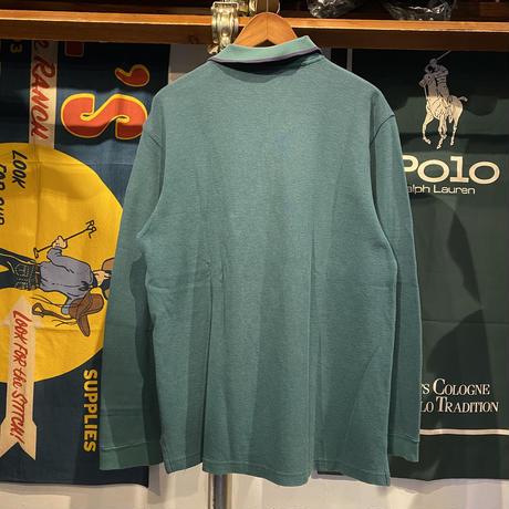 L.L.Bean plain L/S polo-shirt (L)