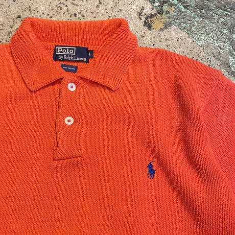 POLO RALPH LAUREN knit polo shirt (L)