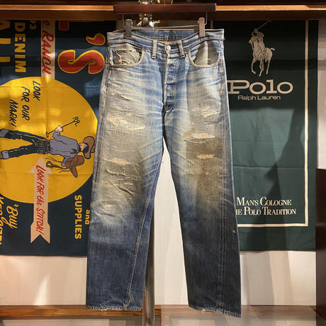 "Levi's ""BIG E"" damage denim pants"