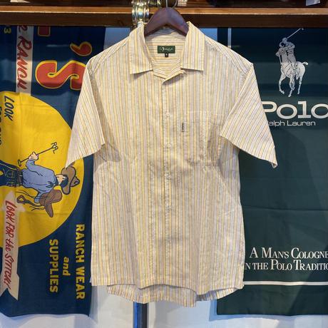 whale earth stripe S/S shirt (M)