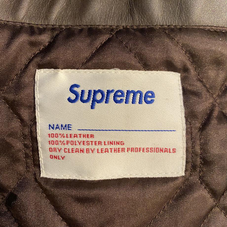 Supreme wing foot leather jacket (M)