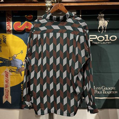 SUGGESTON geometry pattern shirt (L)